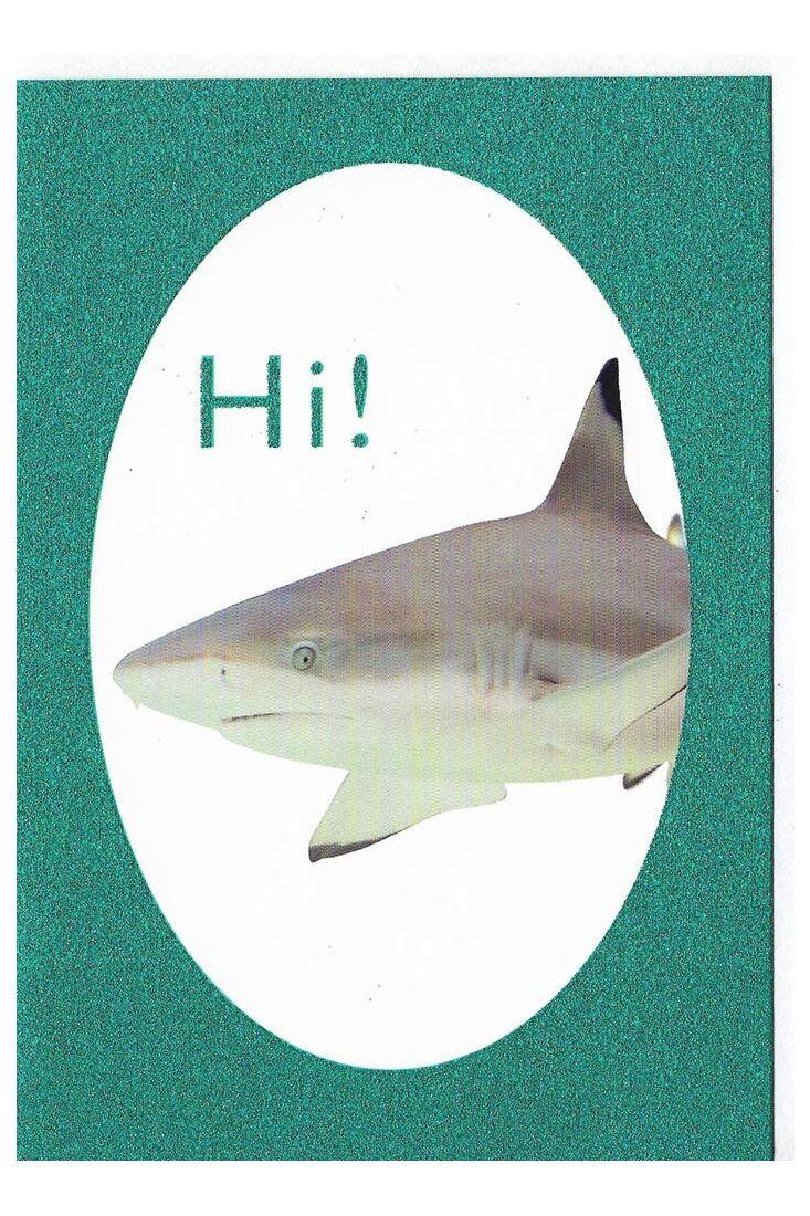 Grußkarten Grußkarte lustig Hi Glimmerlack