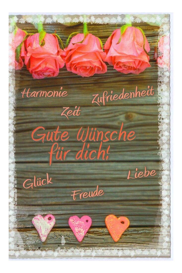 Grußkarte Gute Wünsche für Dich