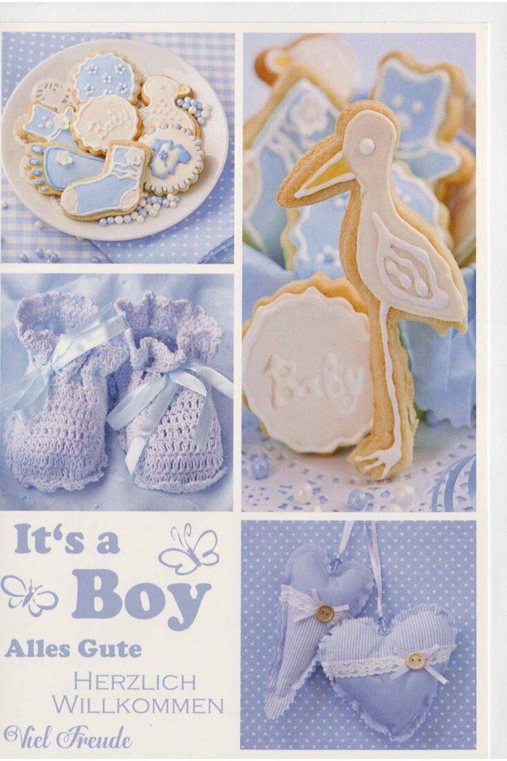 Glückwunschkarte Junge Geburt Herzlich Willkommen