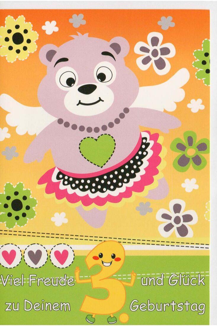 Glückwunschkarte 3 Geburtstag Viel Feude und Glück