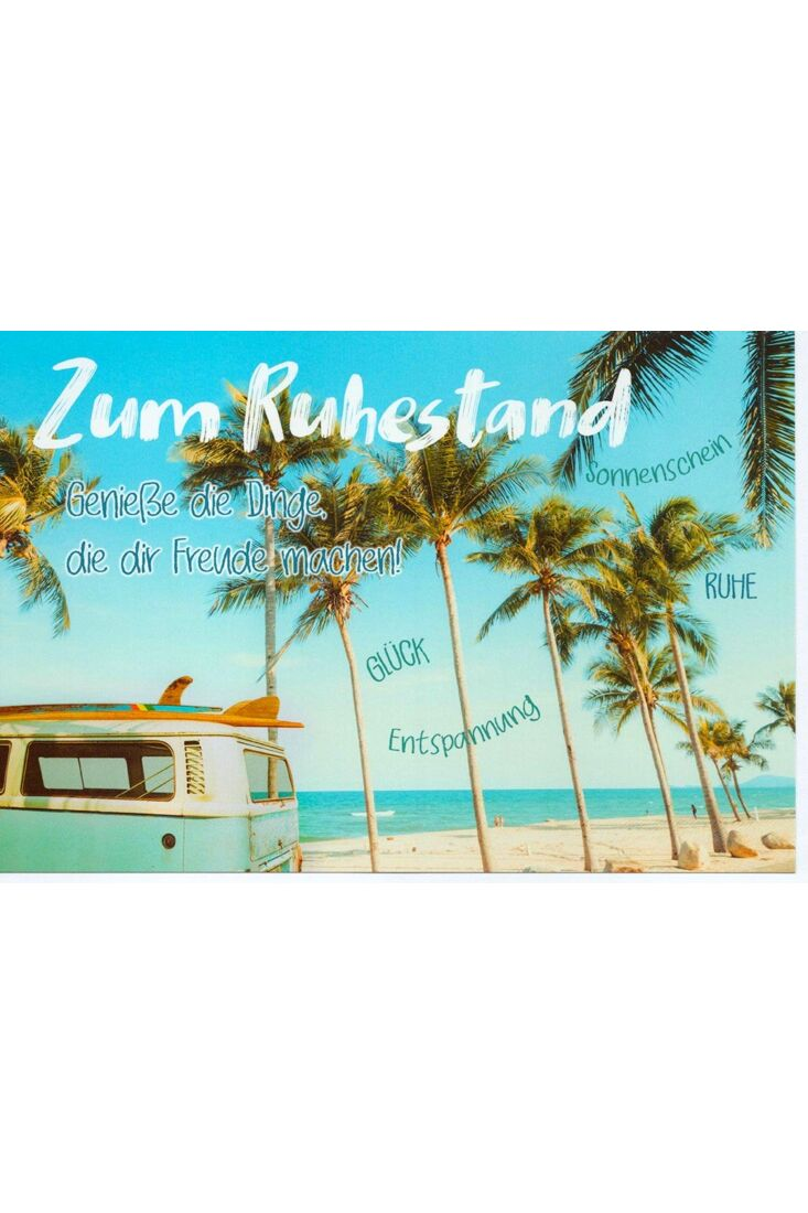 Karte Ruhestand Bulli Strand Wünsche