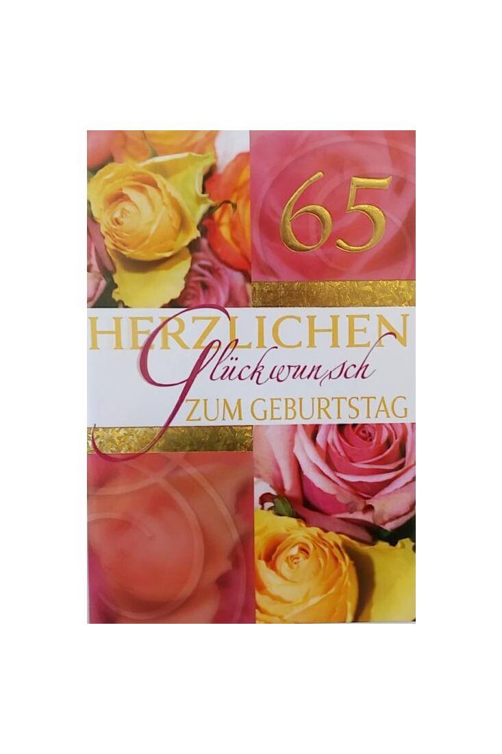 Geburtstagskarte 65 Jahre: