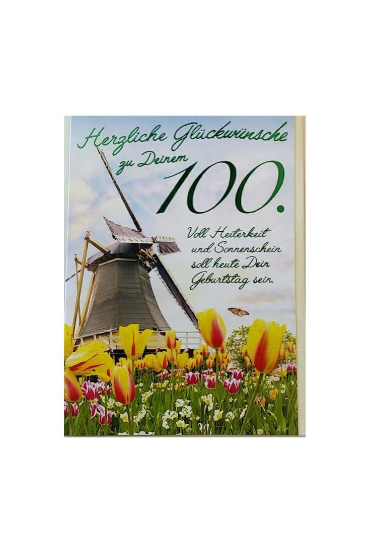 Geburtstagskarte 100 Jahre: