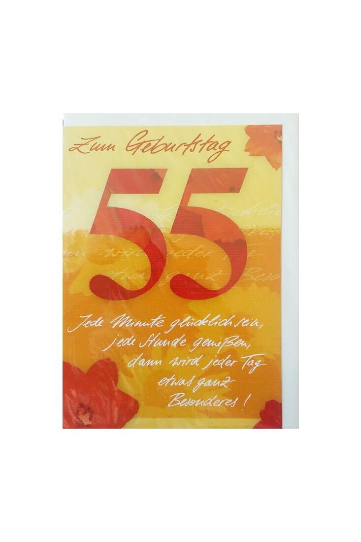 Geburtstagskarte 55 Jahre: