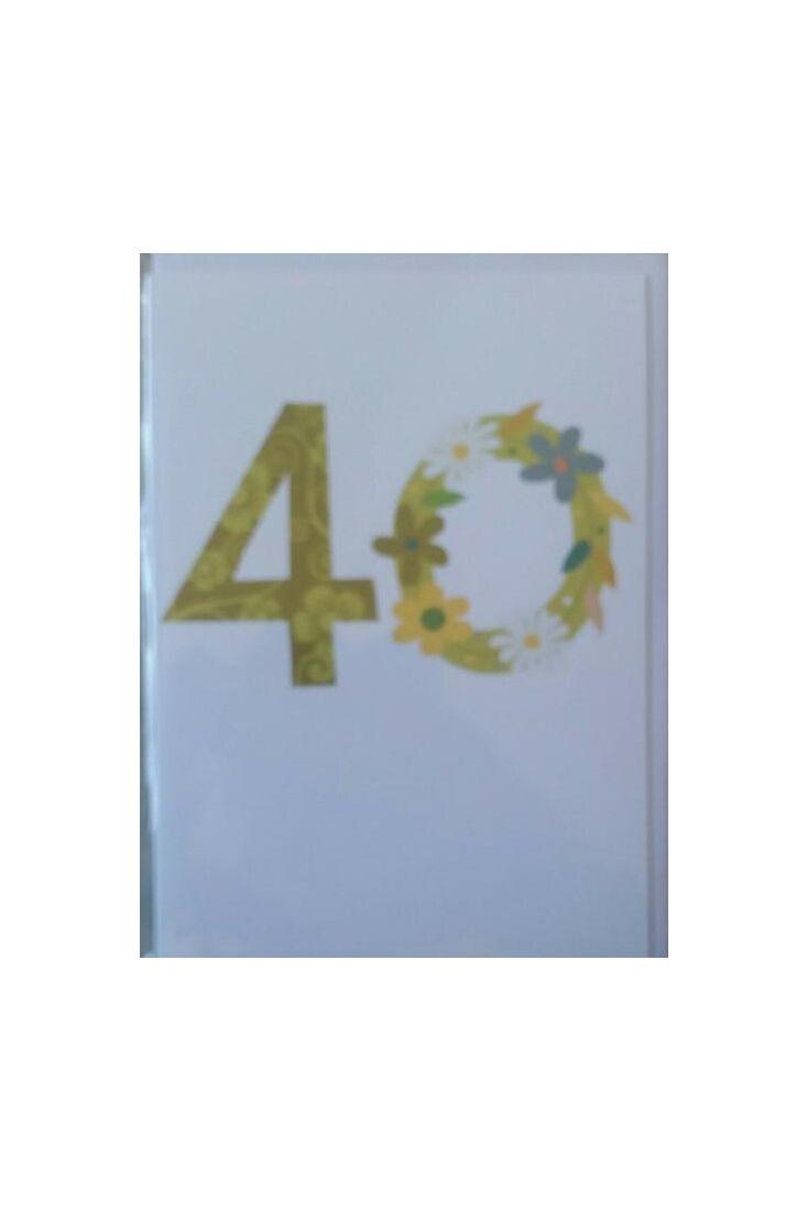 Geburtstagskarte 40 Jahre: