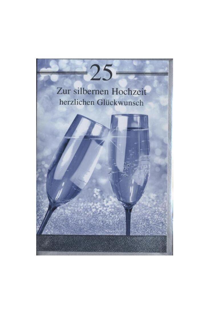 Glückwunschkarte zur Silberhochzeit: Zur silbernen