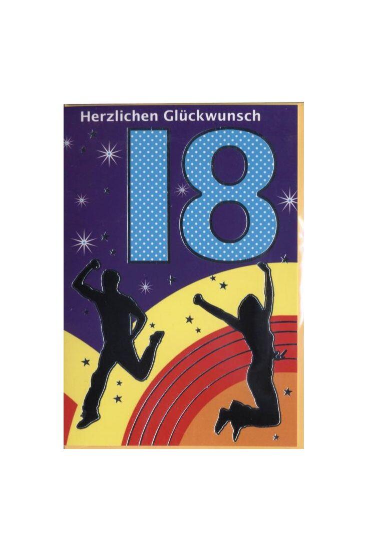 Geburtstagskarte 18 Jahre: