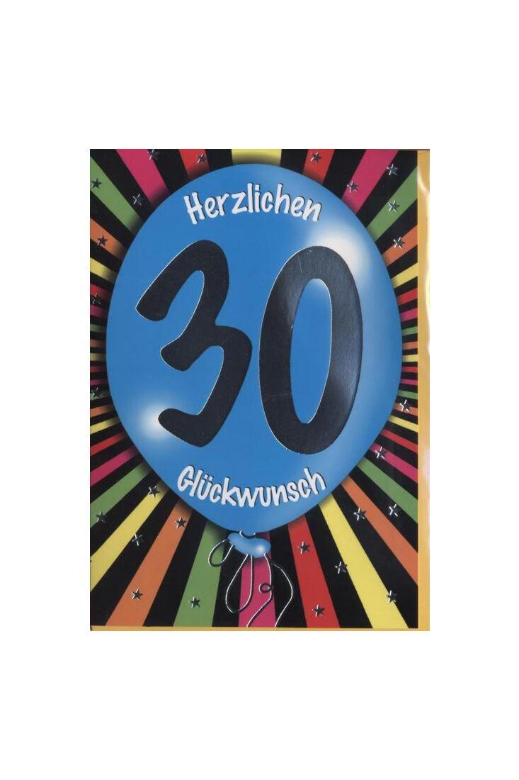 Geburtstagskarte 30 Jahre: