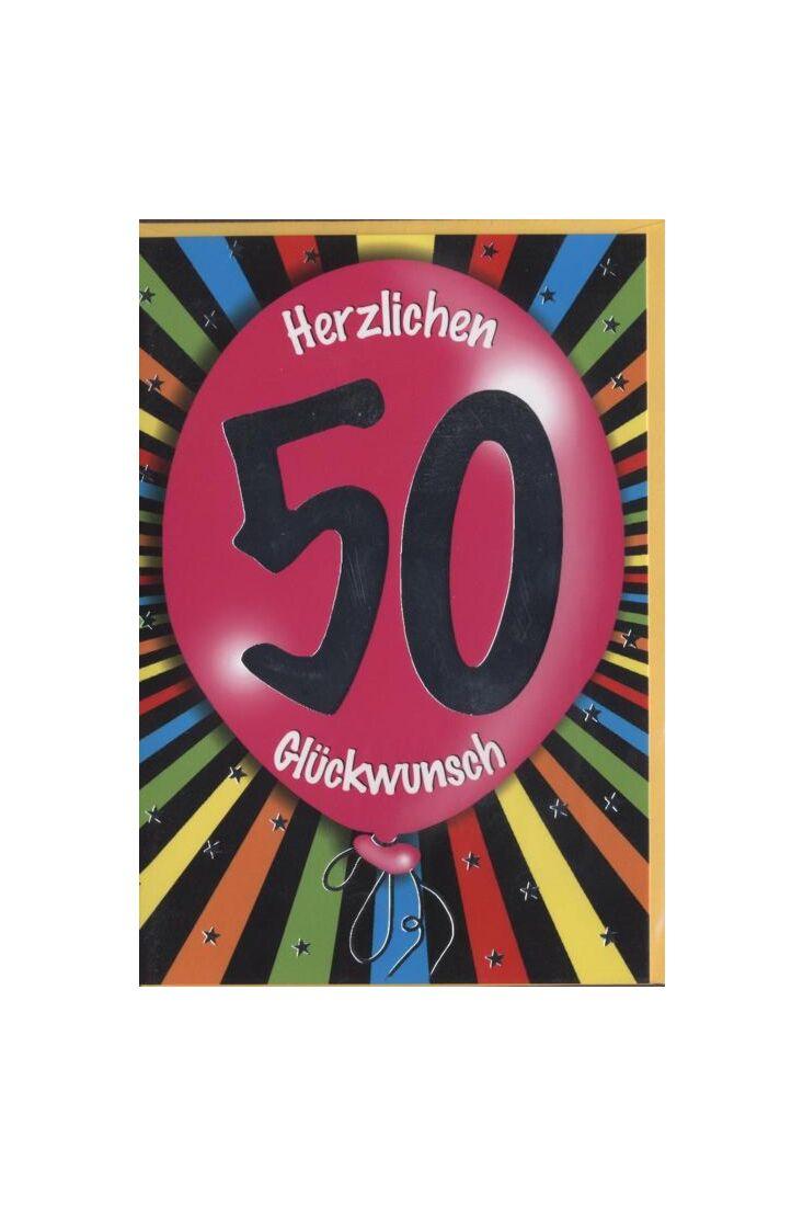 Geburtstagskarte 50 Jahre: