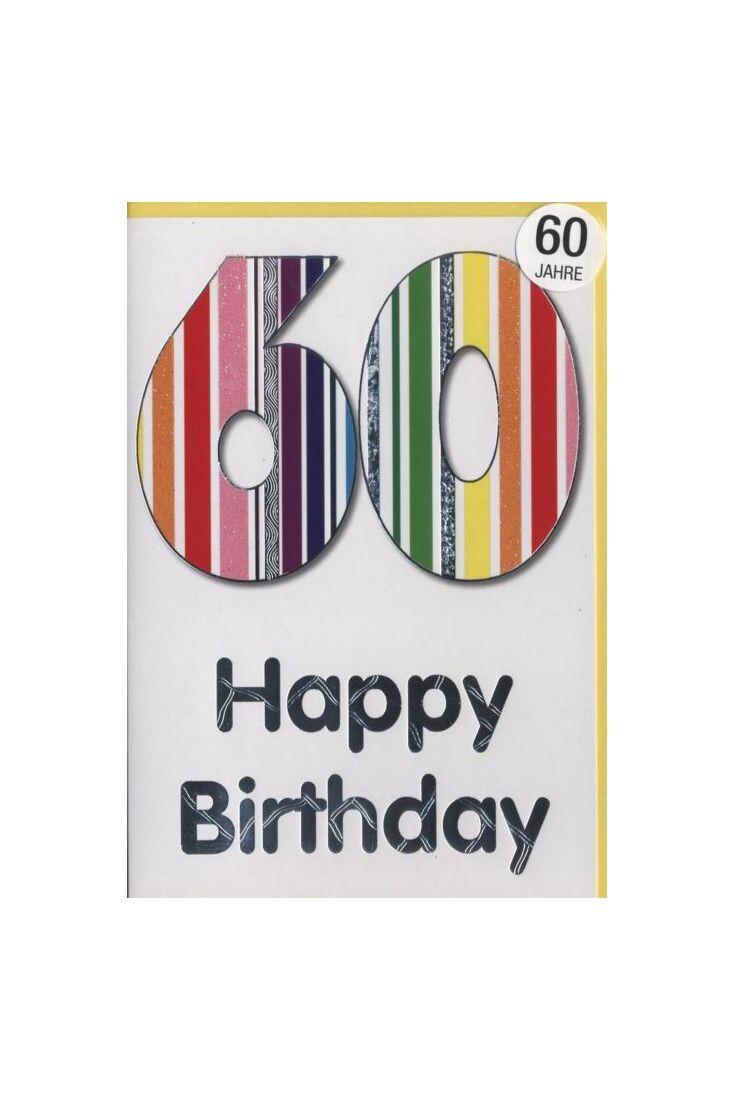 Geburtstagskarte 60 Jahre: