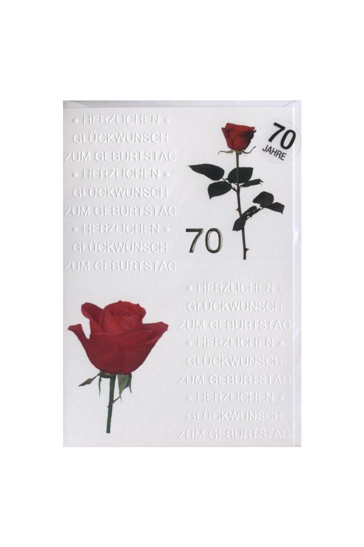 Geburtstagskarte 70 Jahre:
