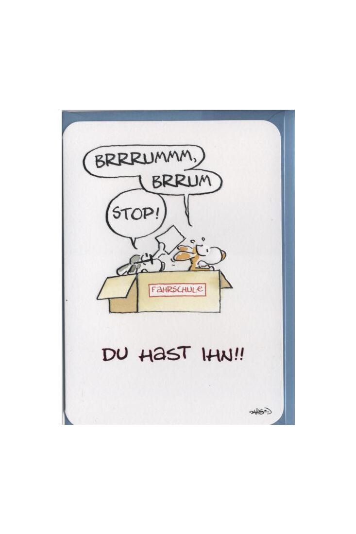 Glückwunschkarte Führerschein: Du hast ihn!