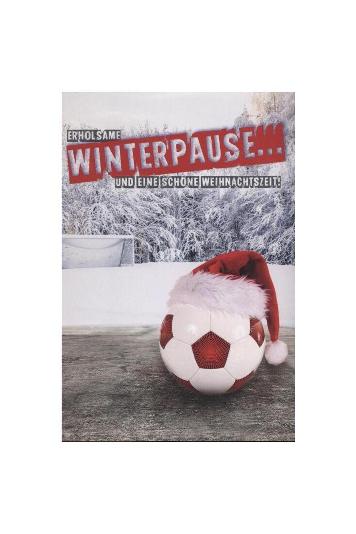 Weihnachtspostkarte Männer Fußball: