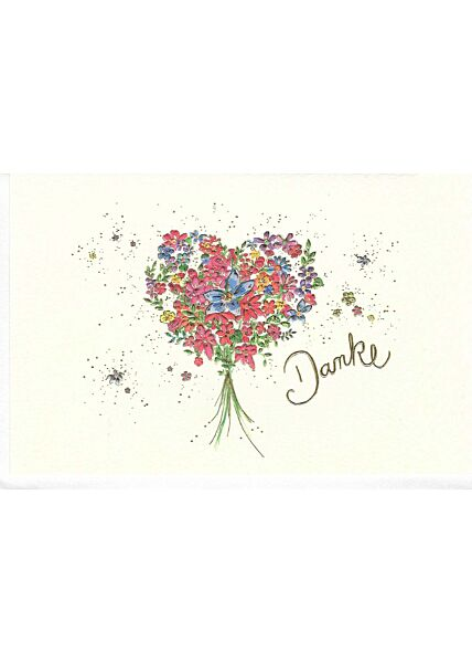 Grußkarte Danke Blumenstrauß