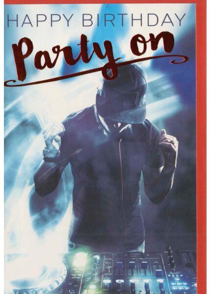 Geburtstagskarte für Partyfreunde Party on