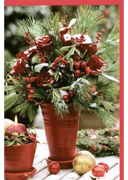 Weihnachtskarte traditionell Weihnachtsblume