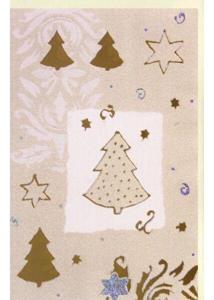 Weihnachtskarte Premiumqualität Edles Papier Folienprägung Blindprägung