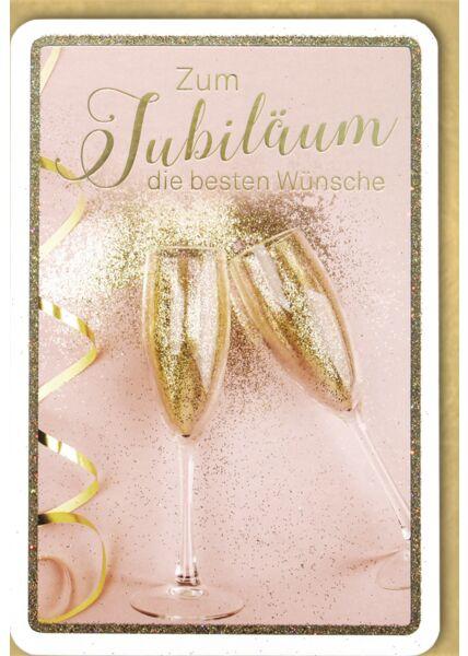 Jubiliäum premium - Sektgläser gold