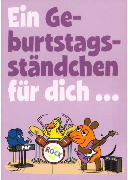 Maus-Postkarte Ein Geburtstagsständchen...
