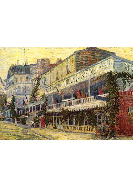 Kunstkarte Vincent van Gogh (1853-1890), The Restaurant de la Sirène at Asnières, 1887
