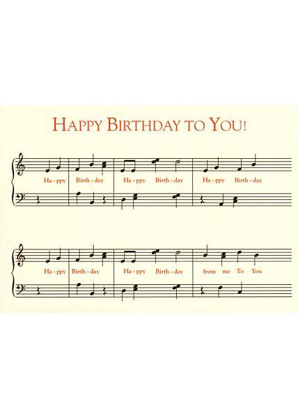 Postkarte Geburtstag Happy Birthday to you