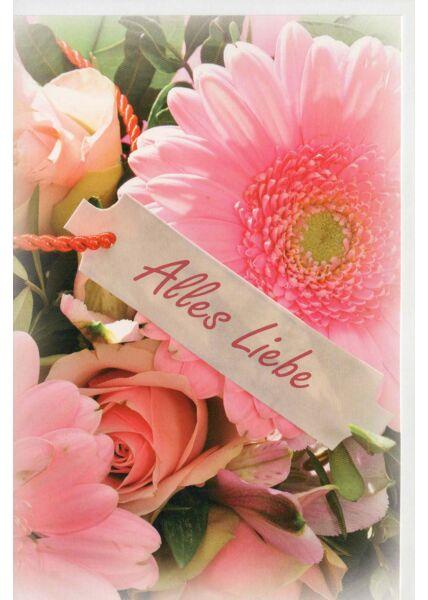 Grußkarte alles Liebe Blumenmotiv