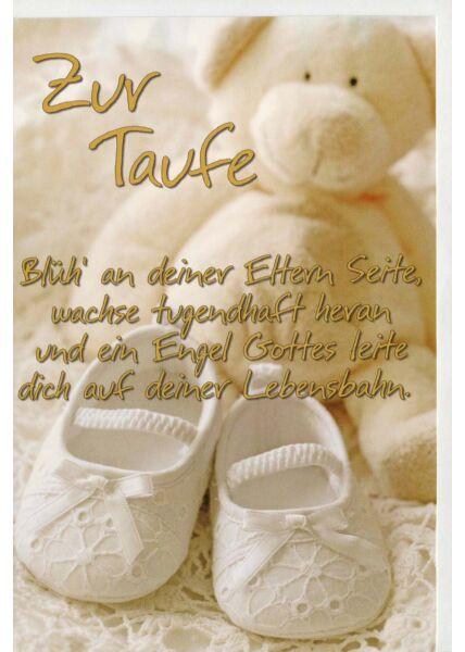 Glückwunschkarte Taufe Blüh an deienr Eltern Seite