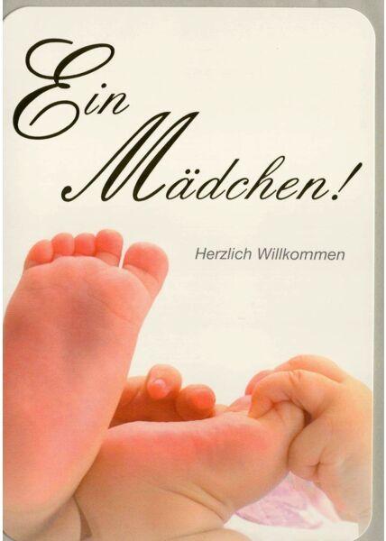 Glückwunschkarte Geburt Mädchen Füße klein