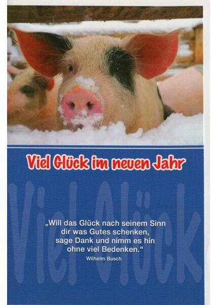 Grußkarte Neujahr Spruch Wilhelm Busch