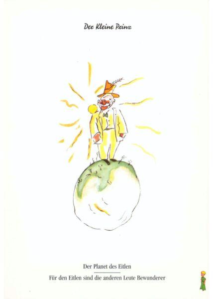 Postkarte Der kleine Prinz Der Planet des Eitlen...
