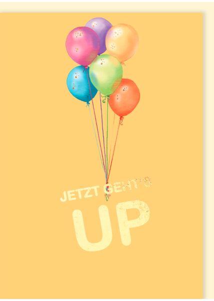 Geburtstagskarte: Jetzt geht's UP