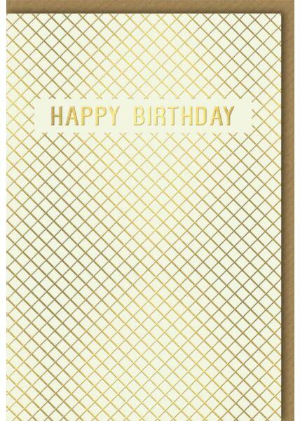 Geburtstagskarte edel Business Happy Birthday gold