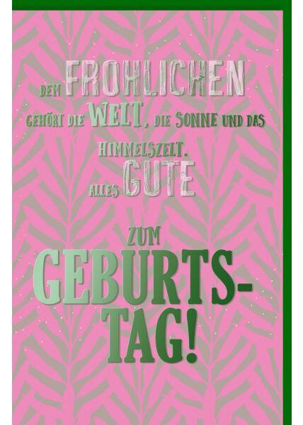 Geburtstagskarte lustig Spruchkarte, mit schimmerndem Farbeffekt
