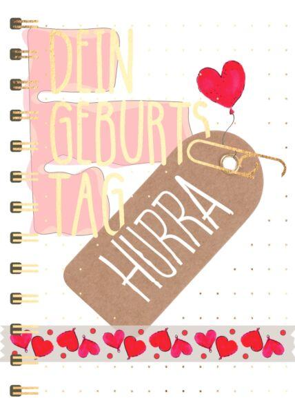 Geburtstagspostkarte Spruch Dein Geburtstag Hurra
