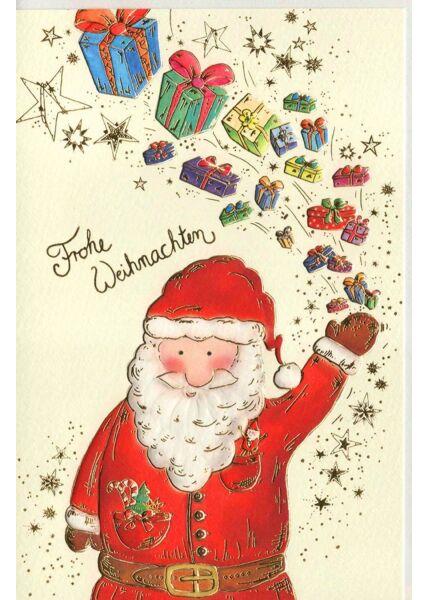 Weihnachtsgrußkarte Nikolaus Geschenke Naturkarton