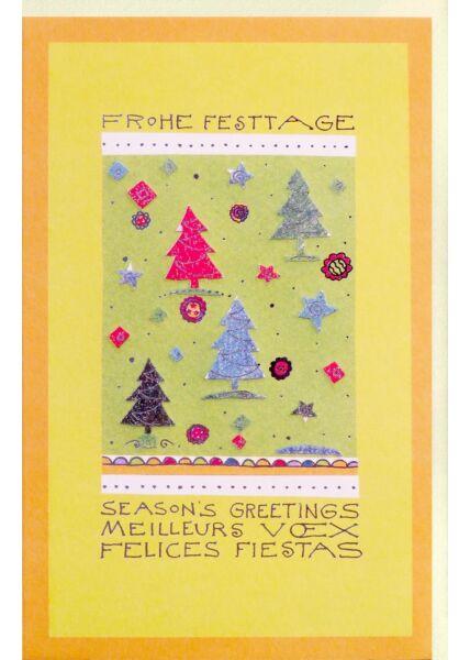 Premium Weihnachtskarte international edles Papier
