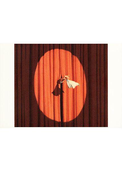 Postkarte Theater Taschentuch Ende Vorbei