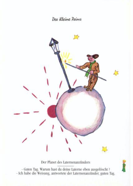 Postkarte Der kleine Prinz Der Planet des Laternenanzünders...