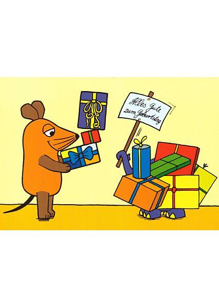 Maus-Postkarte Glückwunsch 2