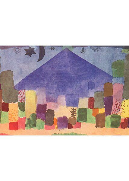 Kunstkarte Paul Klee - The Mountain Niesen