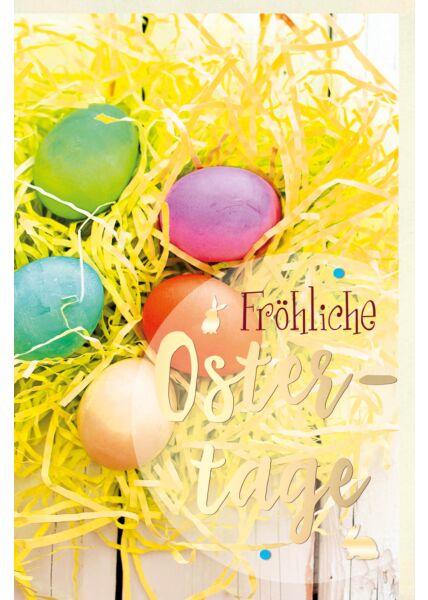 Osterkarte premium Fröhliche Ostertage