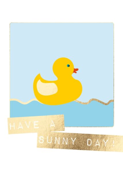 Postkarte Spruch Have a sunny day