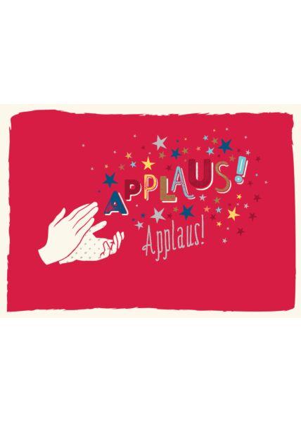 Postkarte Spruch Applaus, Applaus