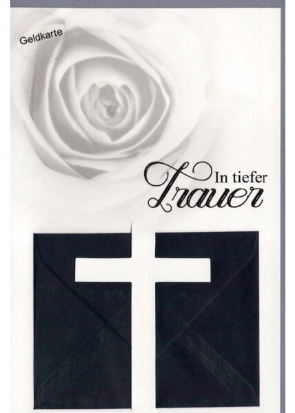Trauerkarte Geldkarte In tiefer Trauer