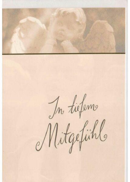 Trauerkarte neutral: in tiefem Mitgefühl