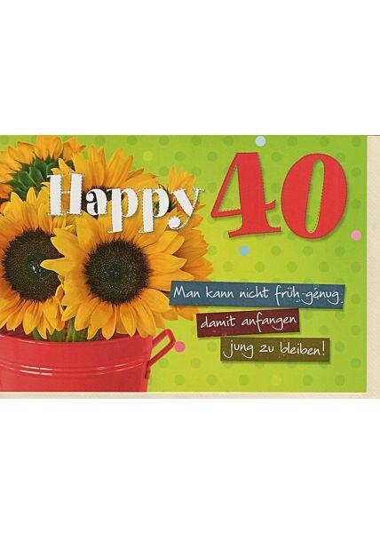 Geburtstagskarte 40: Jung bleiben