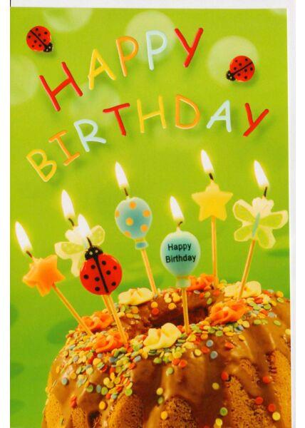 Happy Birthday Karte grüner Hintergrund