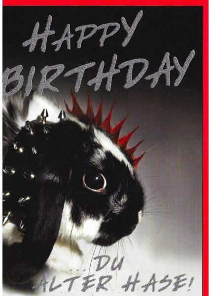 Geburtstagskarte Vogel lustig alter Hase