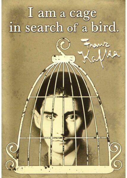 Postkarte englische Sprüche Franz Kafka