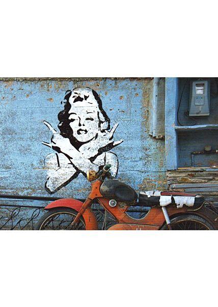 Kunstpostkarte Street Art Street Style